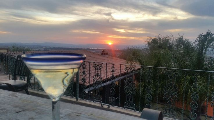 The colors of the sunset, frame the magic of San Miguel.