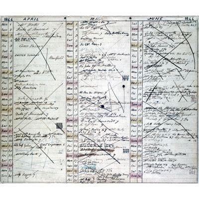 Babbage's social diary, April-June 1844
