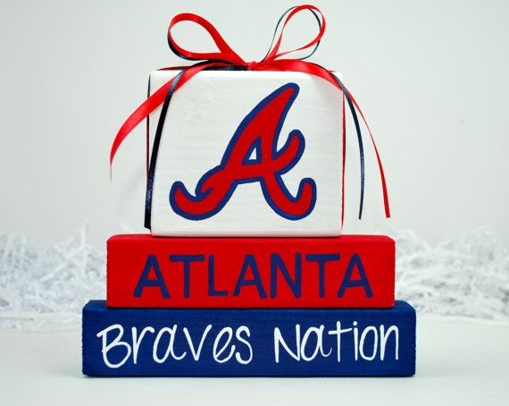 Atlanta Braves Baseball WoodenBlock Sport Shelf by WoodenBlock, $12.00