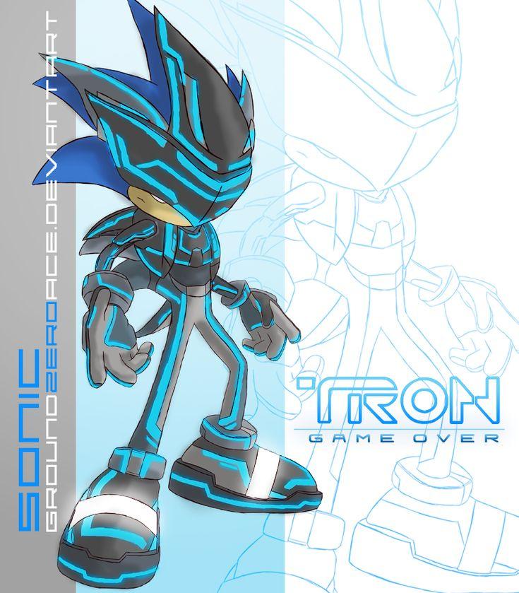 Tron Sonic - sonic-the-hedgehog Fan Art  ok-  Daft punk/tron-plus-sonic= MY MIND BLOWN