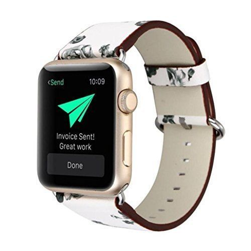 Watch Band For Apple 42mm Durable Leather Metal Clasp iWatch Strap Series1 2 New #WatchBand42mm