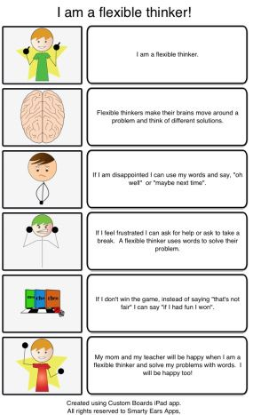 Flexible thinking script - this is great... tons of ideas and a few really good videos from Michelle Garcia Winners ... she's pretty much a genius