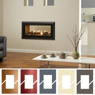 Tunnel Gas Fire Gazco Studio 2 Duplex Bahaus, High Efficiency (82%) Glass Double Sided Gas Fire.