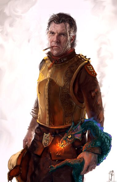 Sam Vimes by ~Merlkir on deviantART. Rapidly becoming my favourite Discworld character...Sybil Ramkin is a very lucky woman.