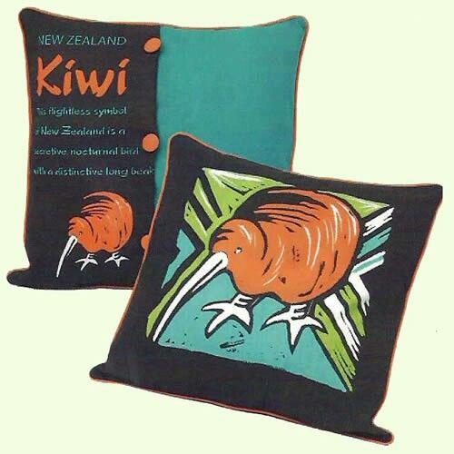 Kiwiana Kiwi Cushion Cover - www.4nz.info