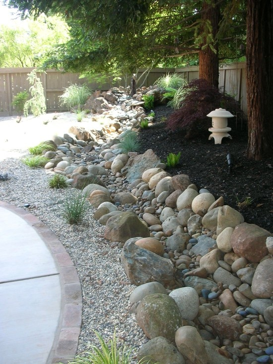 17 best images about backyard ideas dry creek bed in wet for Dry garden designs
