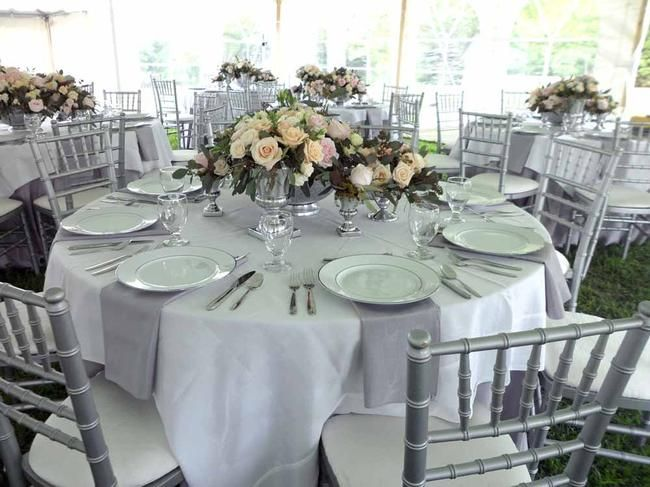 Rent Multiple Silver Vases And Group Them Together For A Bigger Centerpiece Elite Events Rental Wedding