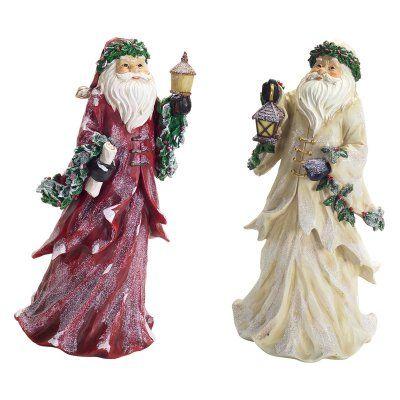 Melrose Frosted Santa Figurine Set - 65388