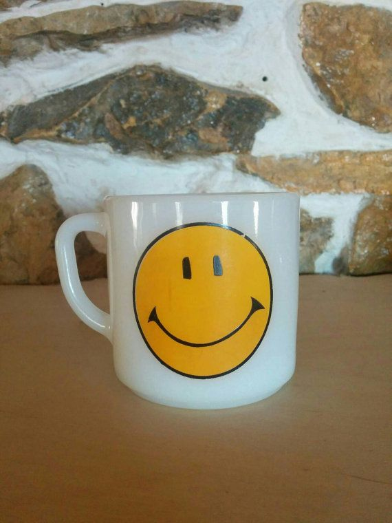 Check out this item in my Etsy shop https://www.etsy.com/listing/264295399/vintage-1960s-happy-face-smiley-milk
