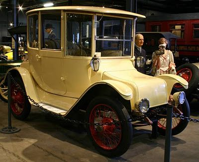 1916 Detroit Electric Model 60.  At one time the electric car was a best seller but when Cadillac introduced electric starters on gasoline engines, it was the end.