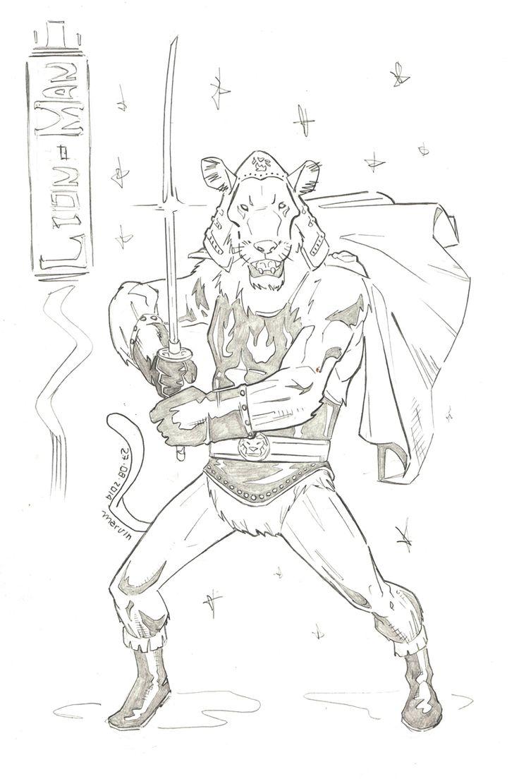 LION MAN [ veja a descrição / see description => http://marv.deviantart.com/art/Lion-Man-478769995 ] || if you're looking for: #conceptart #line #art #character #design #model #sheet #illustration #expressions #concept #drawing #traditional #draw #modelsheet #cartoon #tokusatsu #lion #lionman #lionmaru #samurai #ninja #warrior #japan