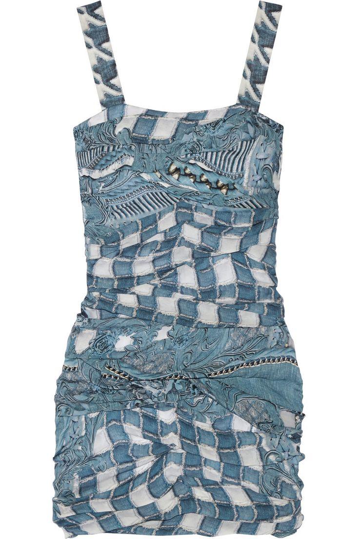 BALMAIN Ruched printed silk mini dress $1,512.50 http://www.theoutnet.com/products/620003