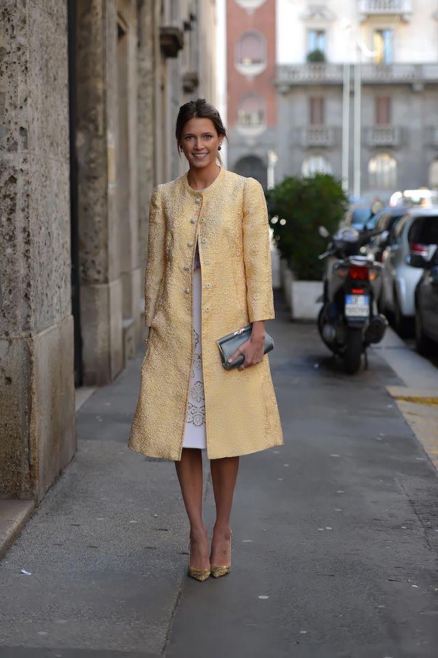 Semana da Moda de Milão A / W 2014: estilo de rua. Parte V (12 fotos)