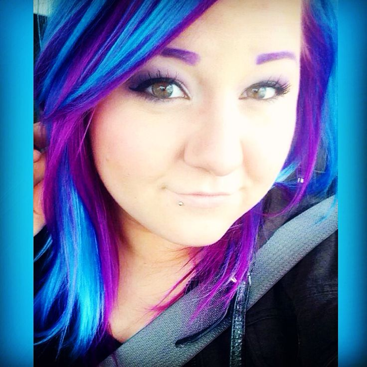 Purple and blue hair Ion Color Brilliance Brights Semi