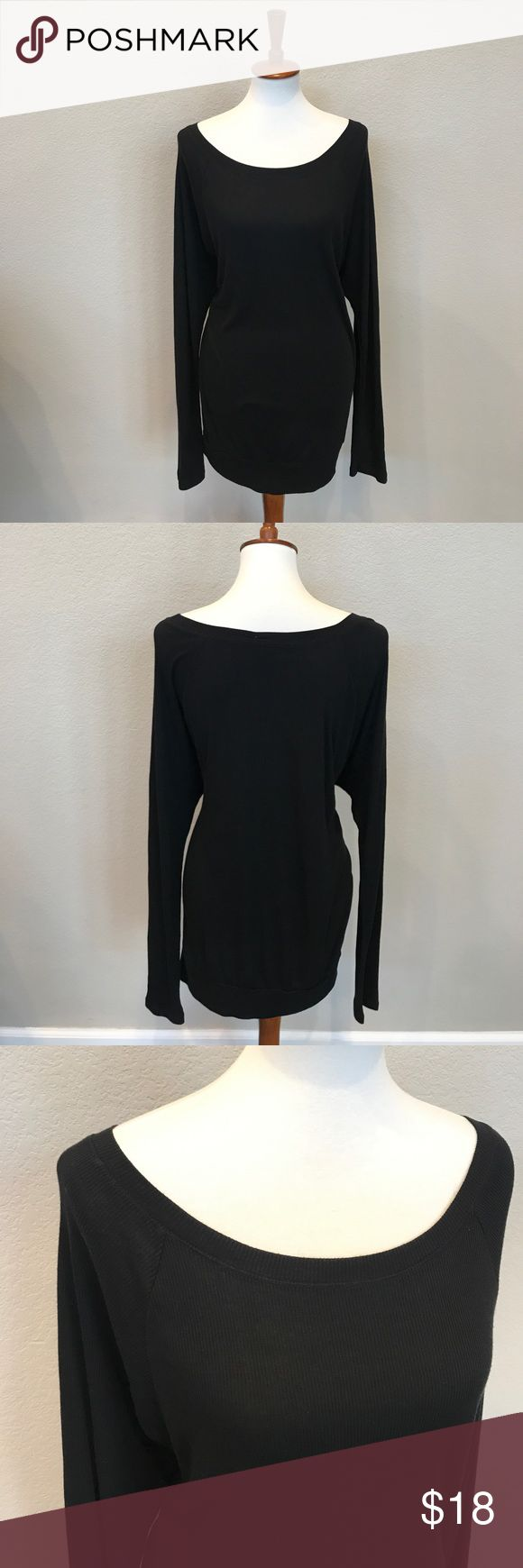 NWOT Old Navy ribbed banded hem tunic size XL Tall Super soft black modal ribbed long tunic from Old Navy. Size XL Tall. Wide scoop neck; can be worn off the shoulder. Banded hem. Dolman/batwing sleeves. NWOT; never worn. Old Navy Tops Tunics