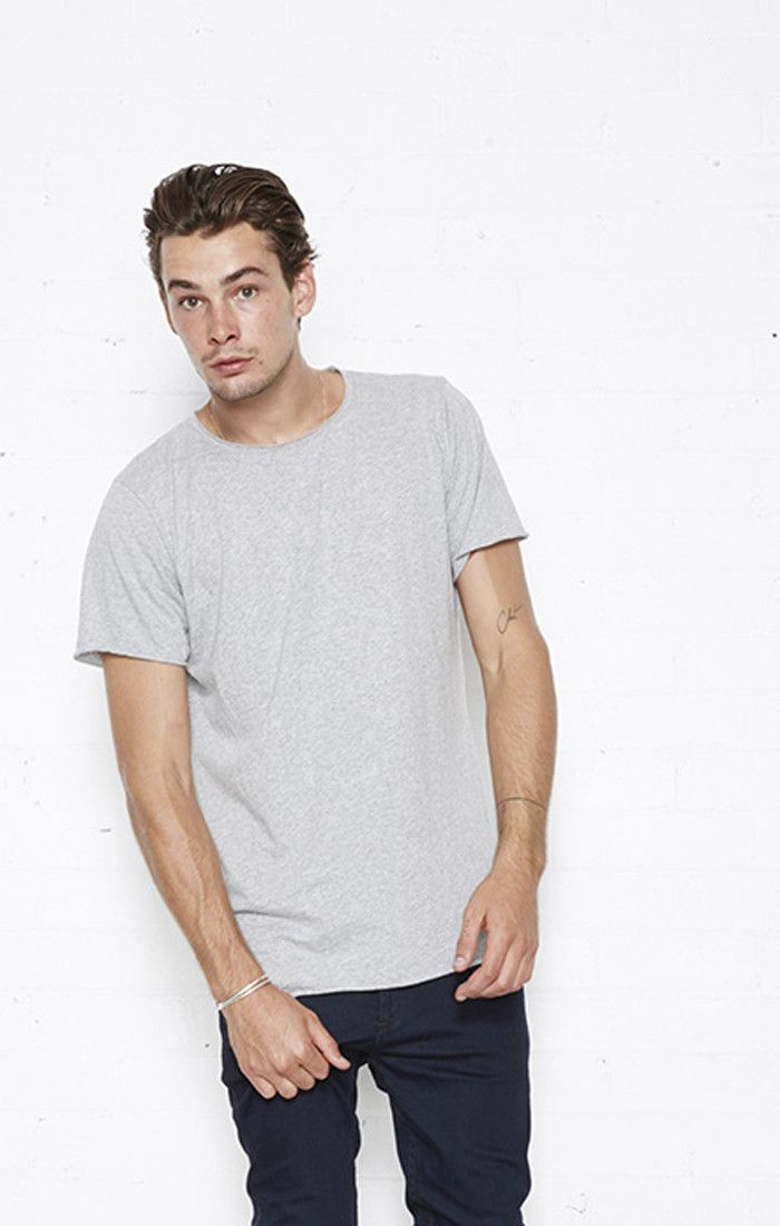 nana judy - Basic Crew Neck Tee Grey Marle