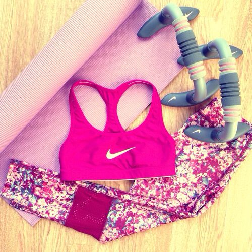 Work out gear More Fit Workout, Workout Outfit, Fit Clothing, Fit Fashion, Workout Clothing, Workout Gears, Health, Fitfashion, Nike Workout clothes, fitness, fashion, apparel, #fitfashion Nike Pro Workout Gear In Pretty Bright Pink! Perfect Shade Of Pink