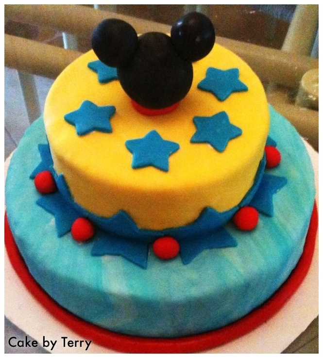 Fondant Mickey Mouse cake by Terry Cakes by Terry & cake ...