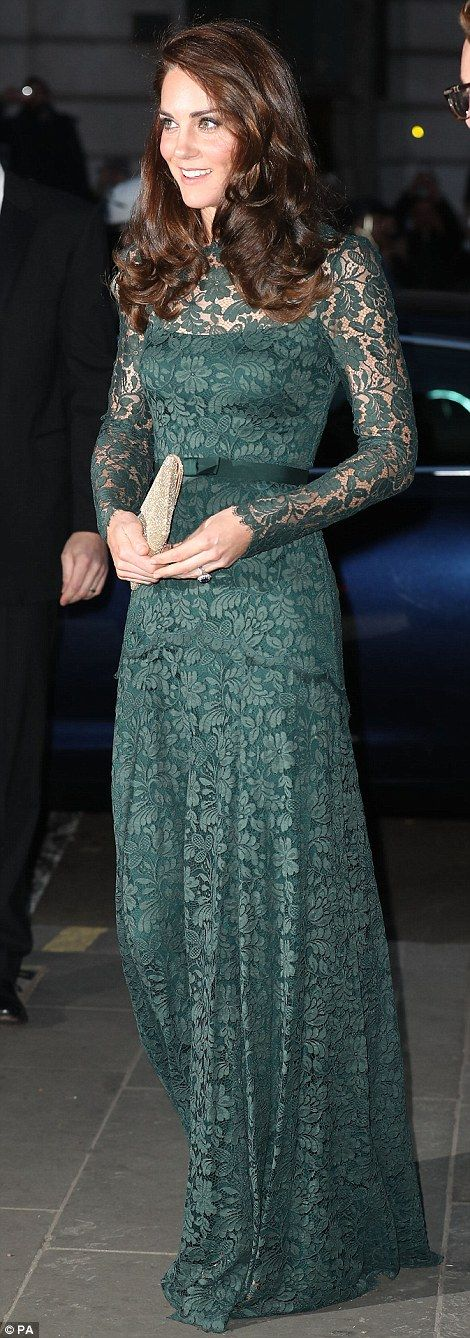 Demure: Also attending the cultural evening was The Duchess of Cambridge, who dazzled in a...