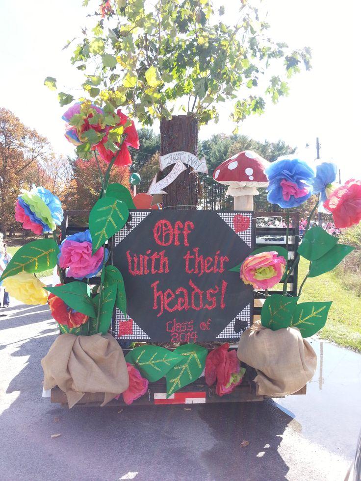 Alice In Wonderland parade float. Shady Spring High School ...