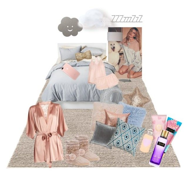 """""""#NightyNight"""" by nancykou on Polyvore featuring Room Essentials, Ren-Wil, LIND DNA, PBteen, Liberty, Amara, M&Co, Three J NYC, Fleur of England and Muk Luks"""