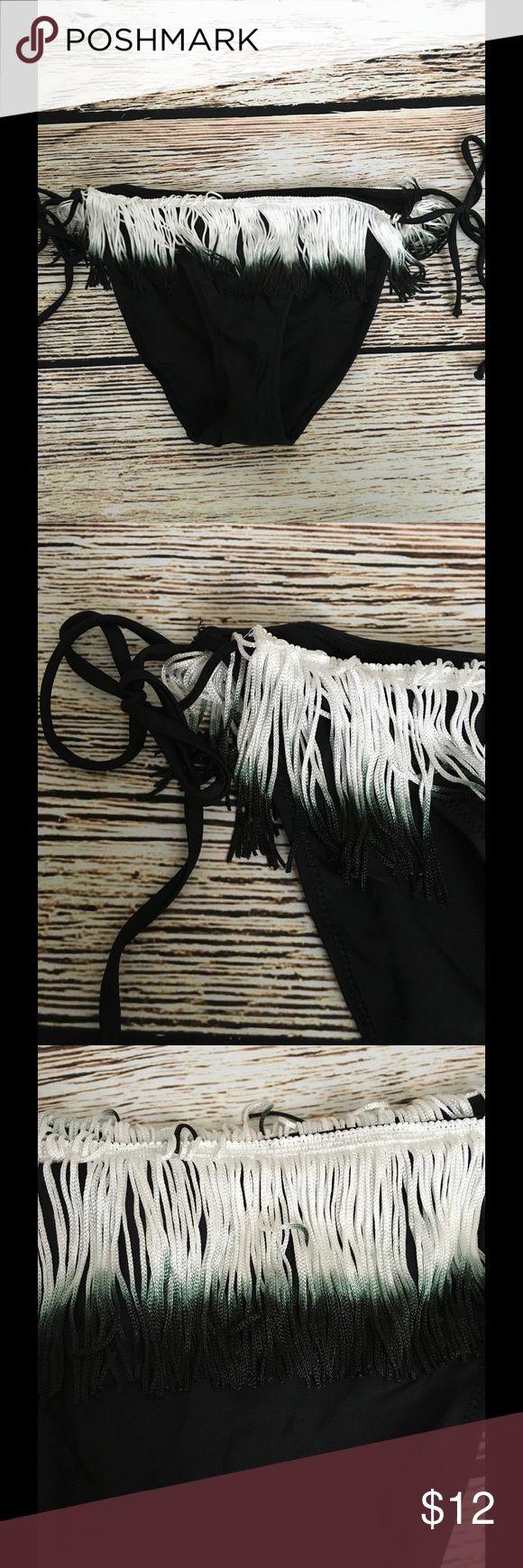 ASOS Size 12 String Bikini Bottom Women's Fringe NWOT Size 12 Fringe Side Tie Bottom only Black mark through label to prevent return to store or catalog ASOS Swim