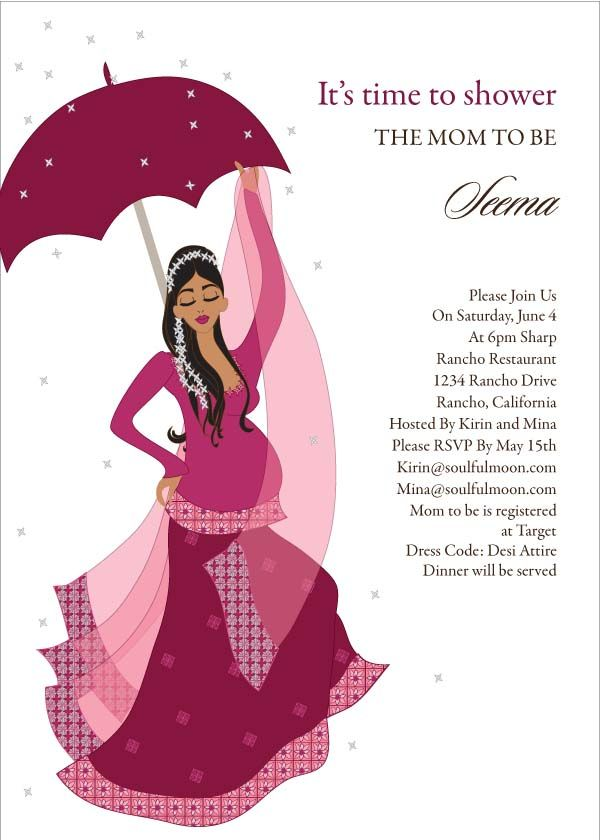 Flower Shower - Indian Baby Shower Invitation by #Soulfulmoon