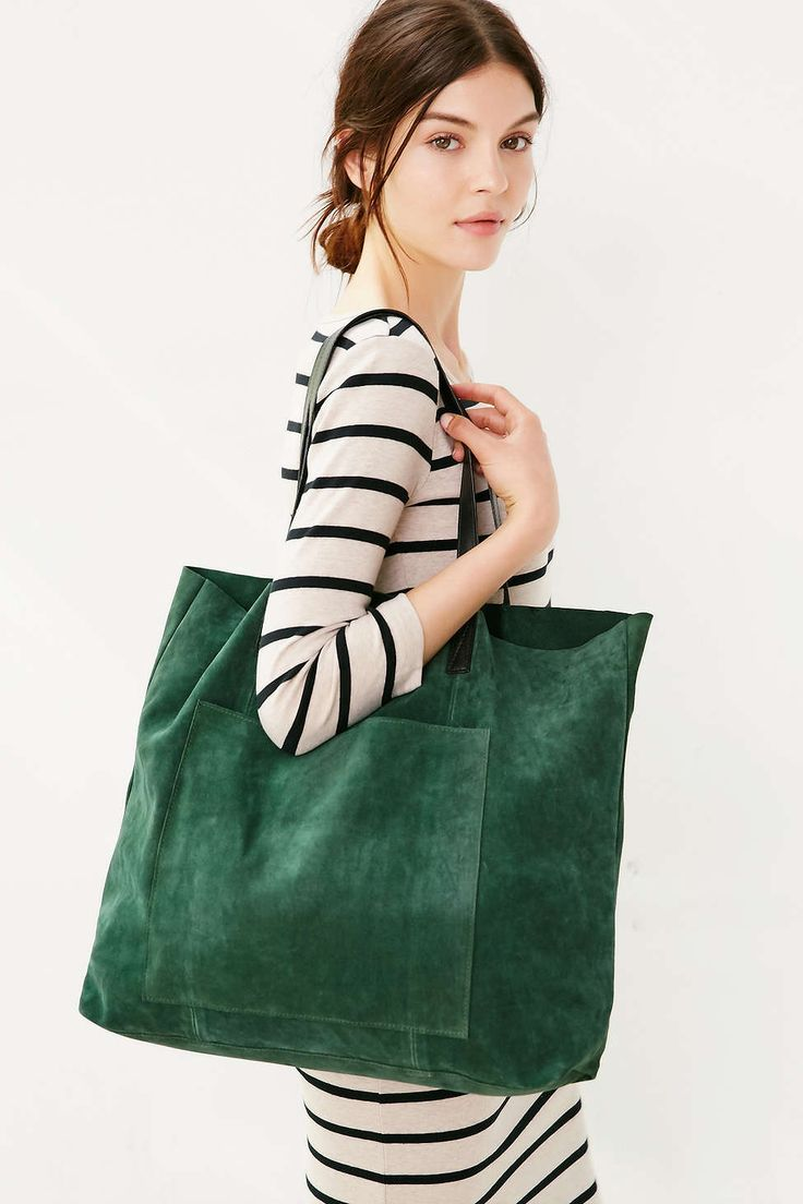 BDG Suede Pocket Tote Bag - Urban Outfitters