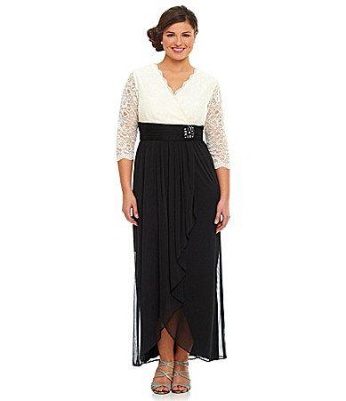 Jessica Howard Woman Twotone Dress Dillards