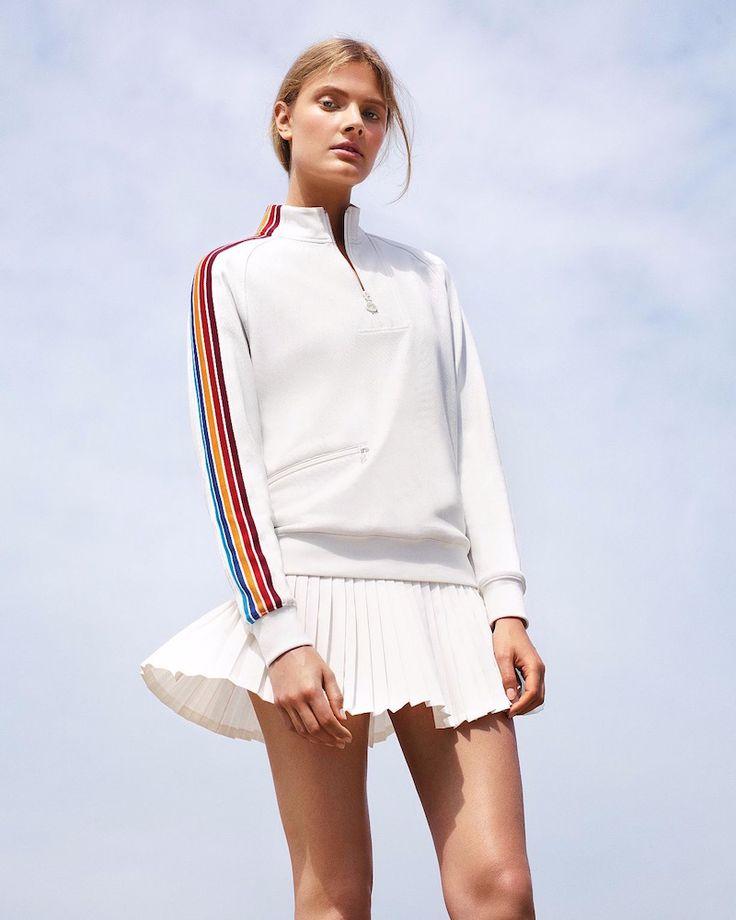 Tory Sport Prism Stripe Pullover