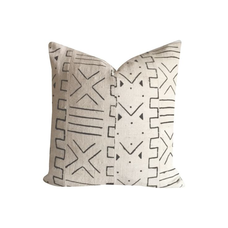 Apartment Guide: Loom Goods African Mud Cloth Pillow