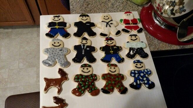Military Gingerbread men. Marine Corps, Army, Air force ...