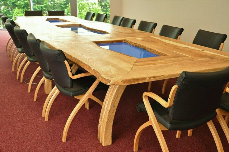 20 Foot Boardroom Table Olive Ash Live Edge Custom