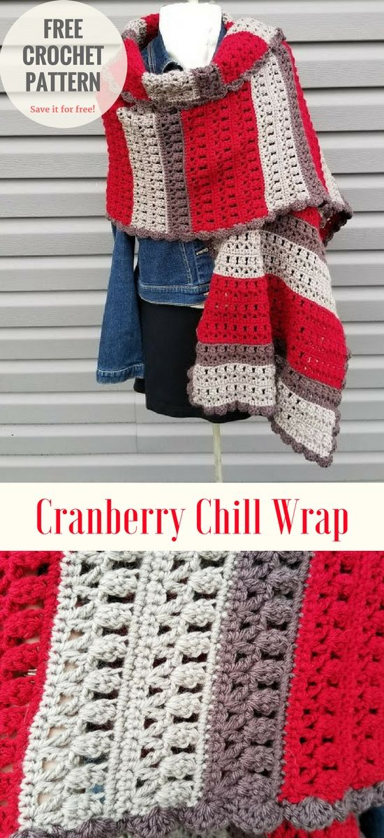 Free Crochet Pattern This absolutely amazing croche wrap comes from Erica's site, which is master of the crocheting. She designed this wrap and now you can