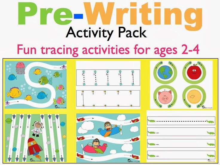 Pre-Writing Activity Pack for Toddlers & PreK