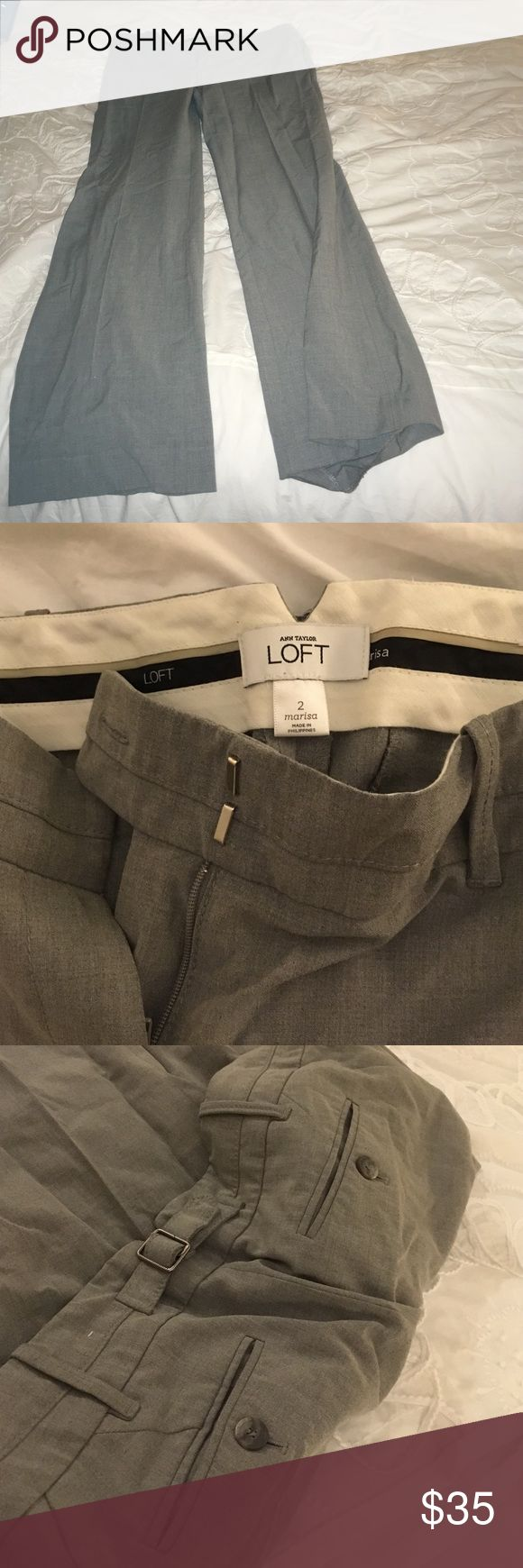 Anne Taylor Loft Work Pants Gray Trousers - size 2 Ann Taylor Pants Trousers