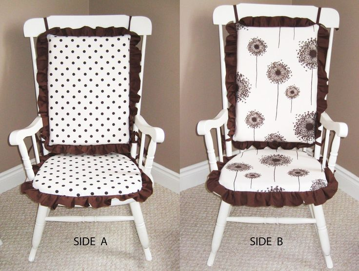 I'll make my own rocking chair covers, similar to these.  The rocking chair covers I see already-made are kinda tacky.