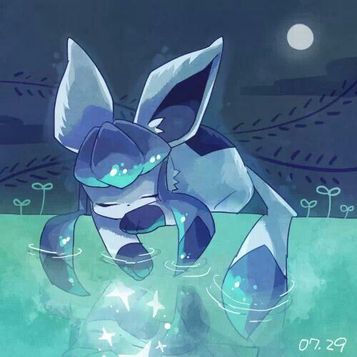 Glaceon elsa and jack frost pinterest beautiful lakes and sleep - Givrali pokemon ...