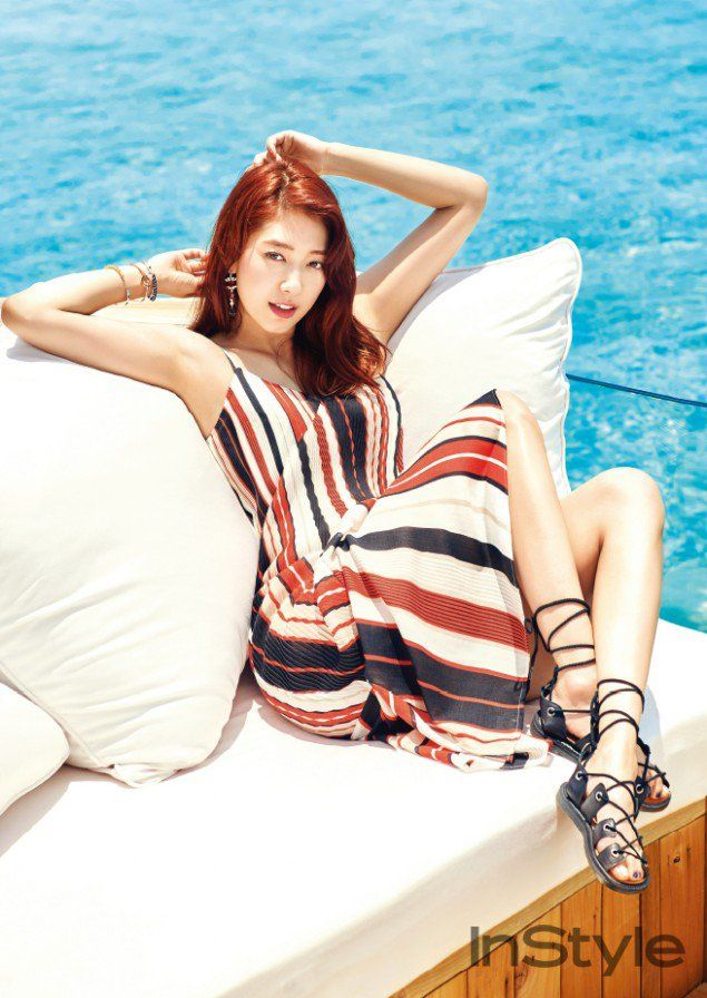 Park Shin Hye is gorgeous in the Maldives for a summer photoshoot with  'InStyle'