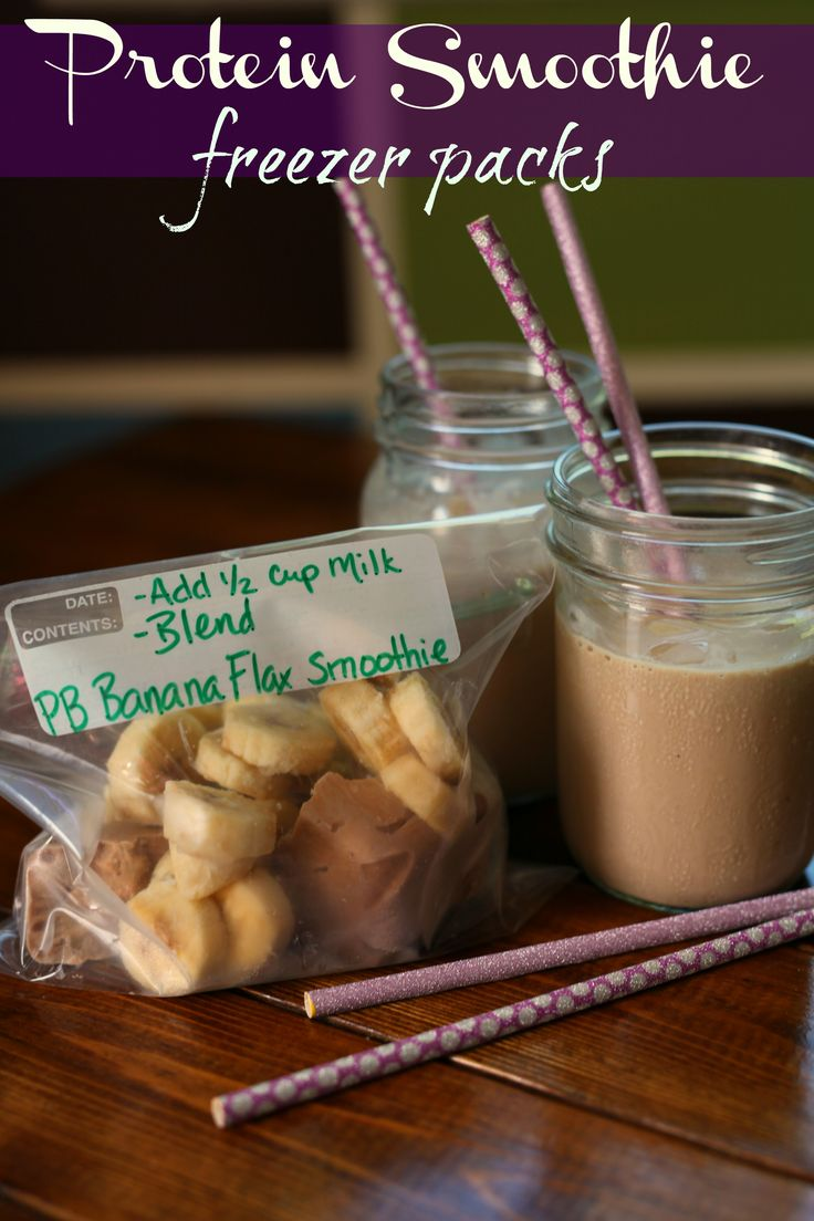 Do you need something quick and delicious to refuel after an intense workout? Prepare these protein smoothie freezer packs ahead of time and you will have a post-workout smoothie that can be ready in minutes! #Ad #MySmoothie