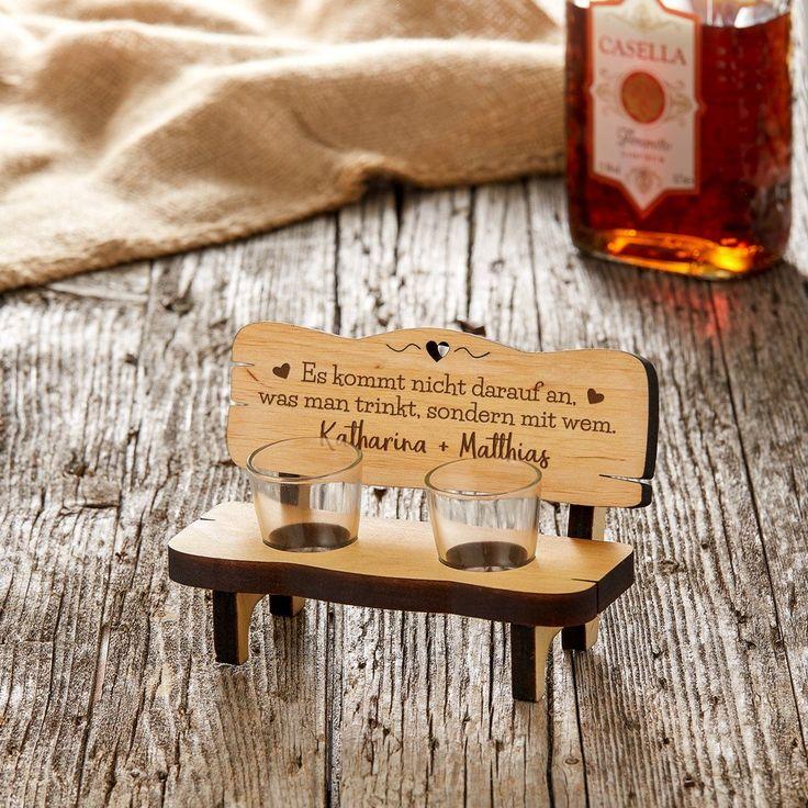 Schnapsbank mit Gravur – Gemeinsam trinken – Personalisiert