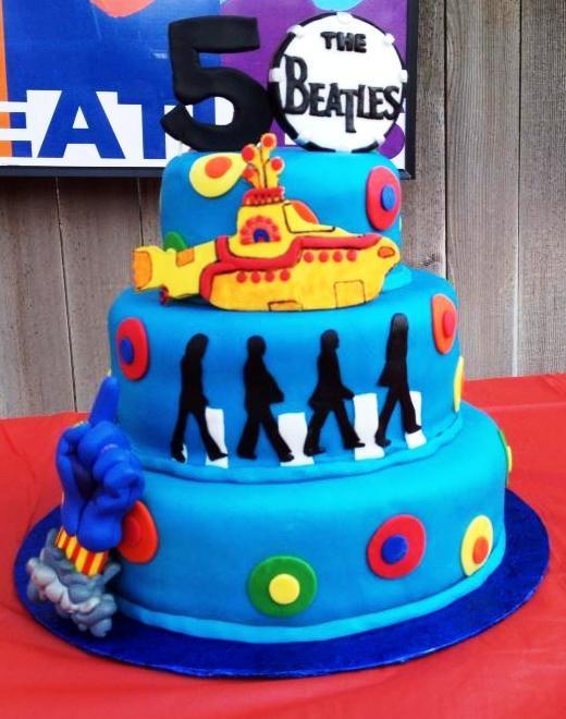 Bad Yellow Submarine Cake