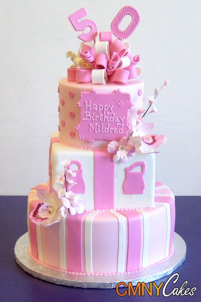 Woman Birthday Cake Pinterest