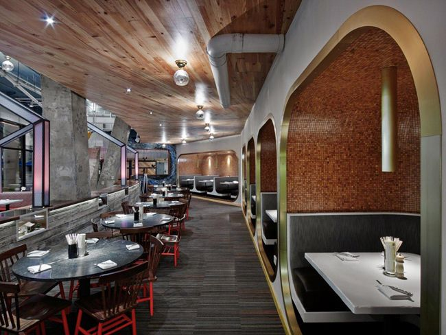 GrizForm Design Architects Infuses Farmers Fishers Bakers, A Washington  Restaurant, With Sophisticated Barnyard Humor. Booths Are Elevated Six  Inches Off ...