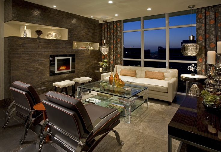 Contemporary Living Room by Featured Designer Megan Crane!