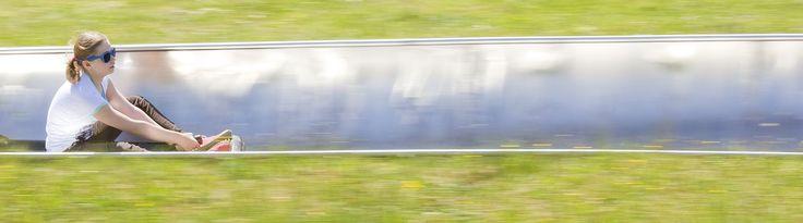 Summer luge in Hallstatt, Austria