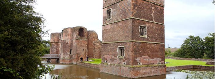 Kirby-Muxloe, a fortified mansion built by William, Lord Hastings. He died before it was completed.