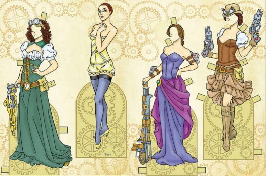 Paper Doll Steampunk (77 pieces)