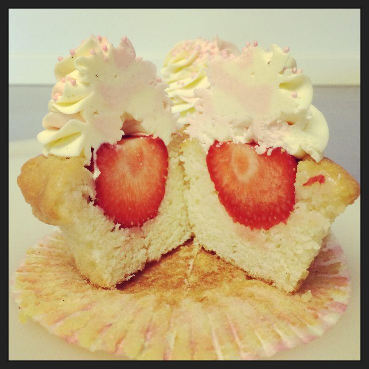 Strawbeey cupcake, mabsikka cupcake