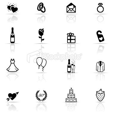 Icons for wedding program